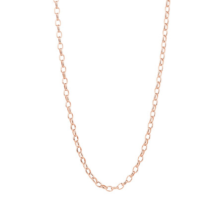 """50cm (20"""") Oval Belcher Chain in 10ct Rose Gold"""