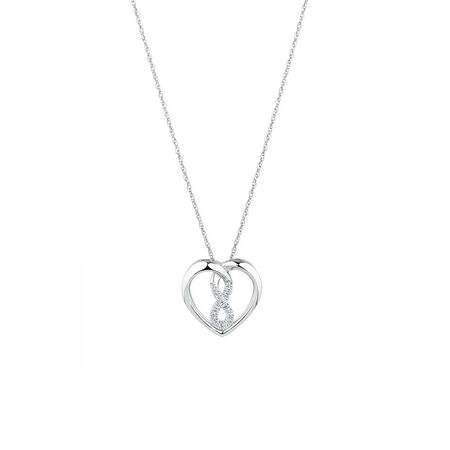 Mini Infinitas Pendant with Diamonds in Sterling Silver | Tuggl