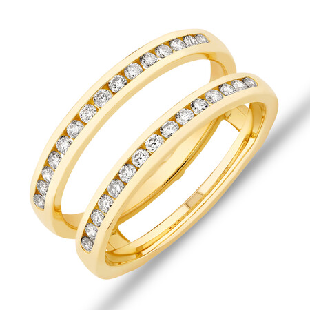 Enhancer Ring with 0.40 Carat TW Diamonds in 14ct Yellow Gold
