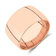 12mm Barrel Ring in 10ct Rose Gold