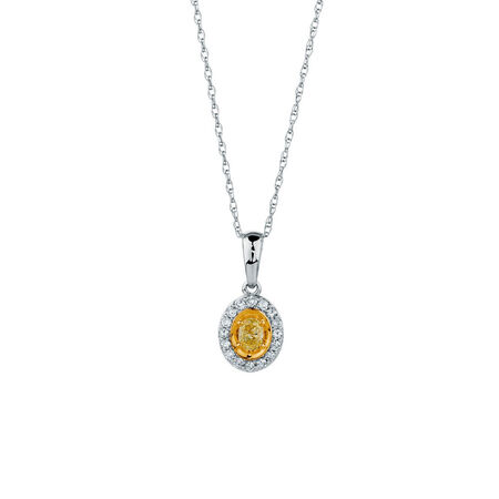 Pendant with 1/4 Carat TW of Diamonds in 10ct Yellow & White Gold