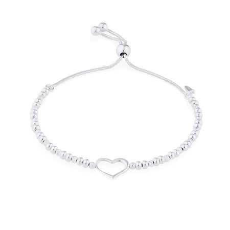 23cm Heart Bracelet In Sterling Silver