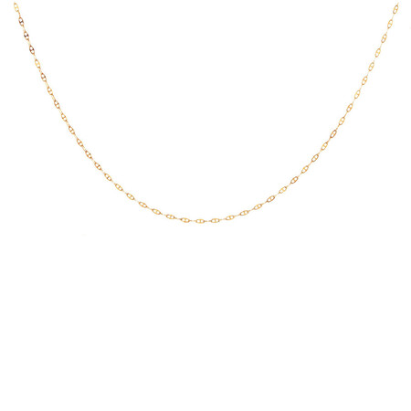 """45cm (18"""") Hollow Anchor Chain in 10ct Yellow Gold"""