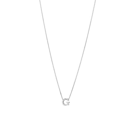 """""""G"""" Initial Necklace in Sterling Silver"""