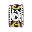 10ct Gold & Sterling Silver Swirl Charm