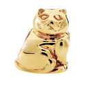 10ct Yellow Gold Cat Charm