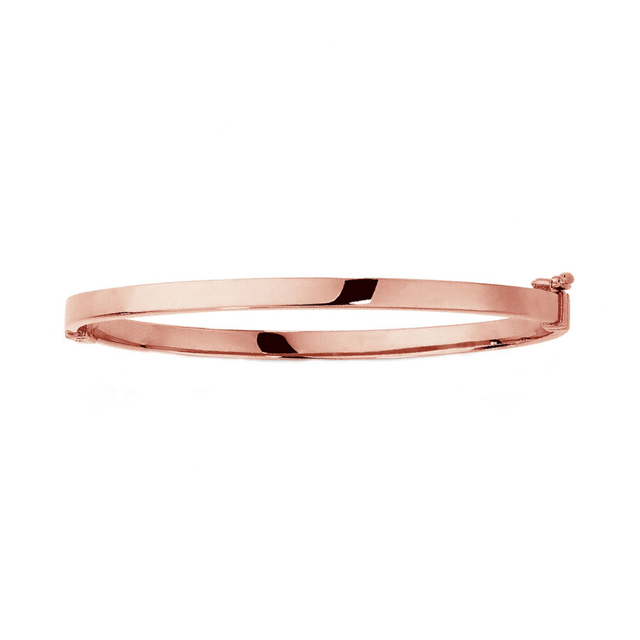 Hinged Bangle in 10ct Rose Gold