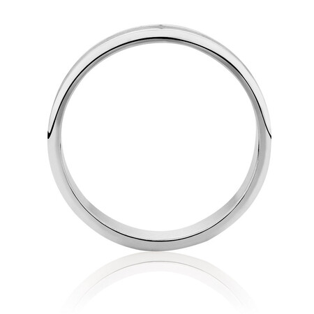Men's Wedding Band in 10ct White Gold