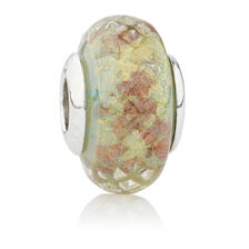 Online Exclusive - Patterned Glass Charm in Sterling Silver