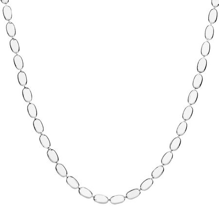"""Sterling Silver 100cm (40"""") Rice Chain"""