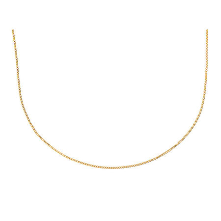 "45cm (18"") Curb Chain in 10ct Yellow Gold"