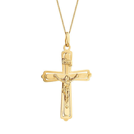 Crucifix Pendant in 10ct Yellow Gold
