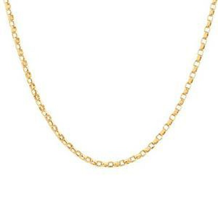 "50cm (20"") Diamond Cut Belcher Chain in 18ct Yellow Gold"