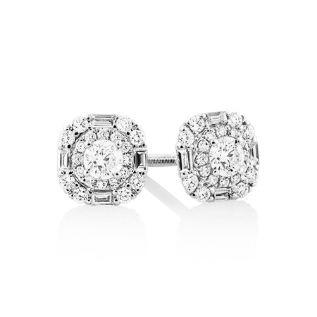 Sir Michael Hill Designer Fashion Earrings with 0.45 Carat TW of Diamonds in 18ct White Gold