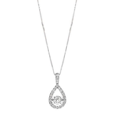 Everlight Pendant with 0.50 Carat TW of Diamonds in 14ct White Gold