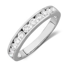 Online Exclusive - Wedding Band with 0.58 TW of Diamonds in 14ct White Gold