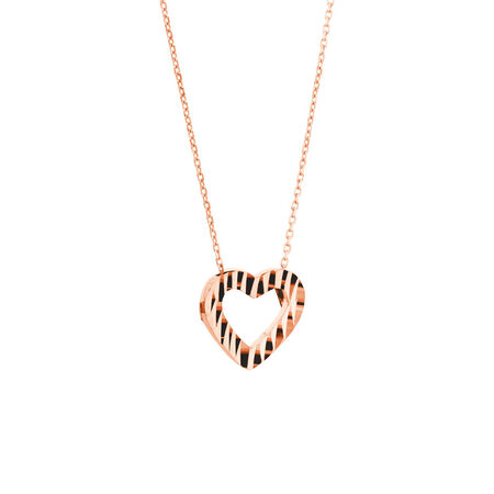 Heart Pendant in 10ct Rose Gold