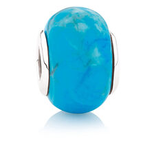 Enhanced Blue Turquoise & Sterling Silver Protection Charm