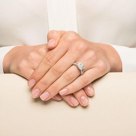 Sir Michael Hill Designer GrandArpeggio Engagement Ring with 1.45 Carat TW of Diamonds in 14ct White Gold