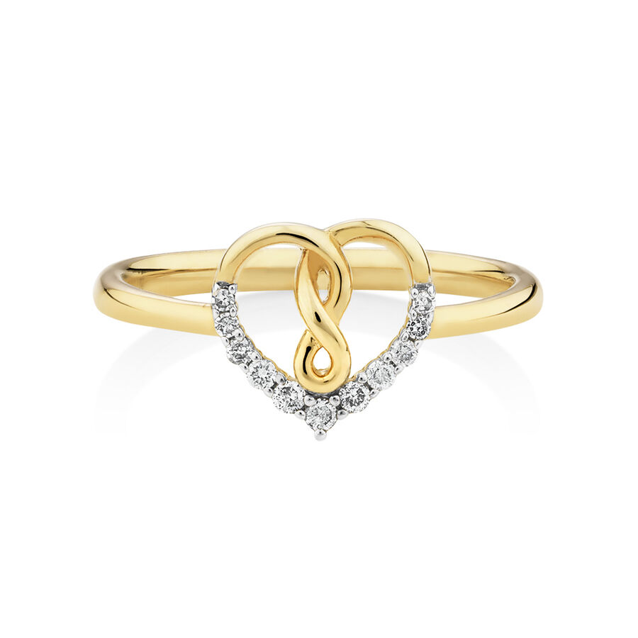 Infinitas Ring With 0.10 Carat TW Of Diamonds In 10ct Yellow Gold