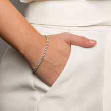 Tennis Bracelet with 1 Carat TW of Diamonds in 10ct White Gold
