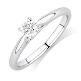 Evermore Engagement Ring with 0.34 Carat TW Diamond Solitaire in 14ct White Gold