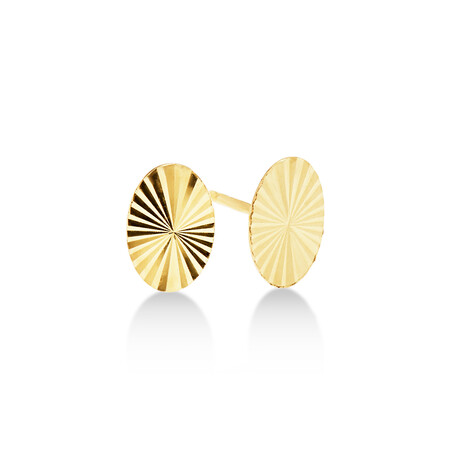 Disc Stud Earrings in 10ct Yellow Gold