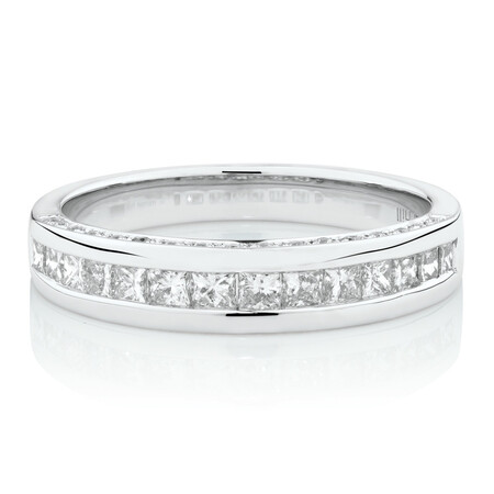 Online Exclusive - Ring with 0.69 Carat TW of Diamonds in 14ct White Gold