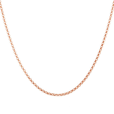 "60cm (24"") Hollow Belcher Chain in 10ct Rose Gold"