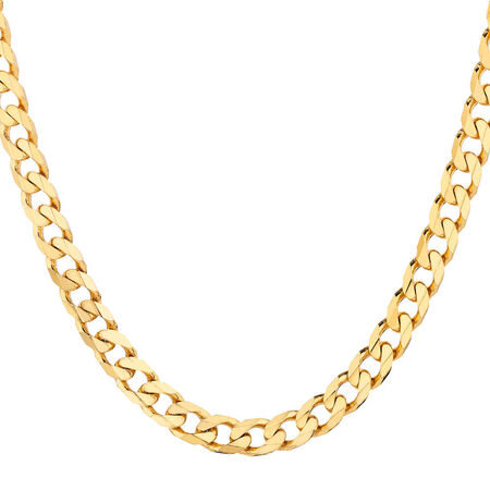 Solid Curb Chain in 10ct Yellow Gold