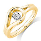 Everlight Ring with a 0.16 Carat TW Diamond in 10ct Yellow Gold