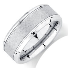 Online Exclusive - 8mm Men's Ring in White Tungsten