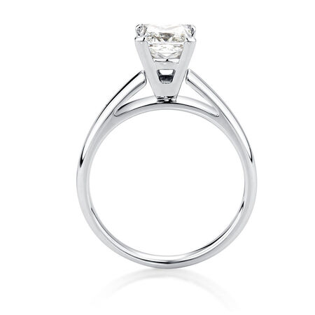 Certified Solitaire Engagement Ring with a 1.45 Carat Diamond in 14ct White Gold