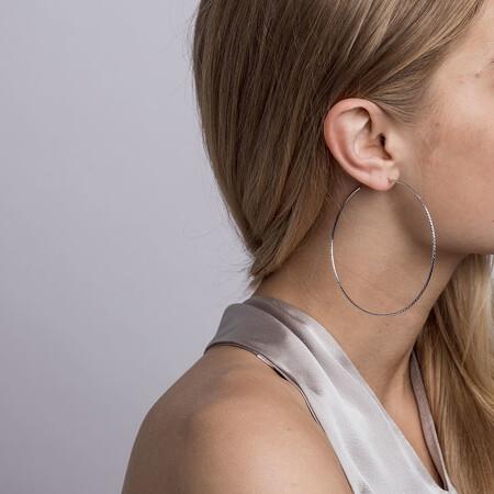 72mm Hoop Earrings in Sterling Silver