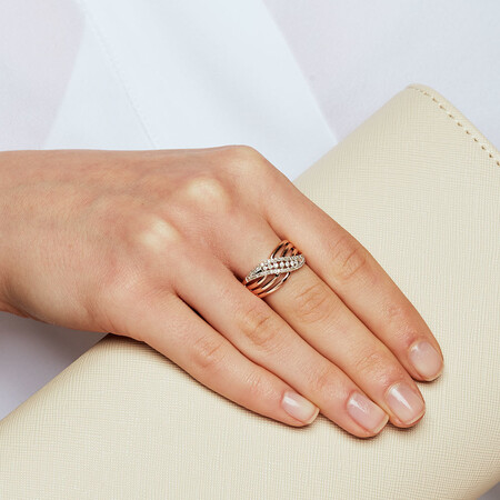 Ring with 1/4 Carat of Diamonds in 10ct Rose Gold