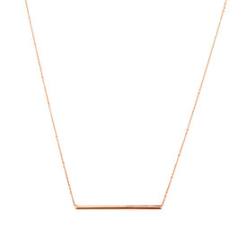 """45cm (18"""") Bar Necklace in 10ct Rose Gold"""
