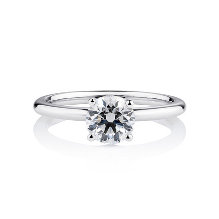 Laboratory-Created 1 Carat Diamond Ring in 14ct White Gold
