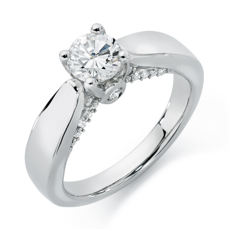 Online Exclusive - Engagement Ring 1 Carat TW of Diamonds in 14kt White Gold