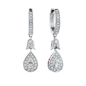 Sir Michael Hill Designer GrandAmoroso Drop Earrings with 0.33 Carat TW of Diamonds in 10ct White & Rose Gold