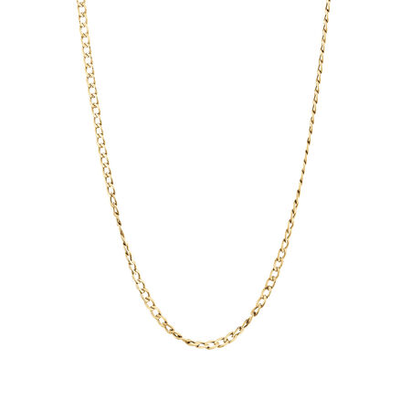 Hollow Curb Chain in 10ct Yellow Gold
