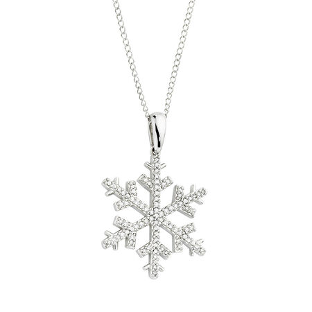 Pendant with 0.20 Carat TW of Diamonds in 10ct White Gold