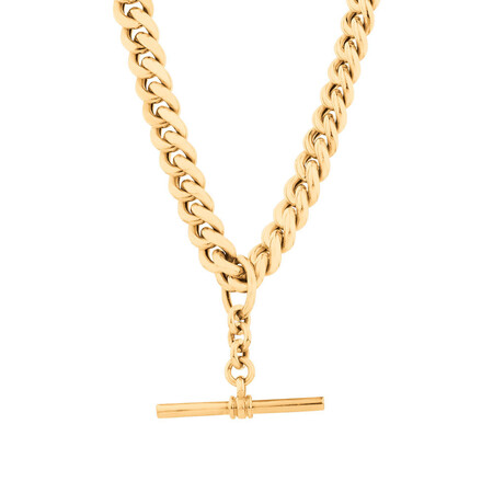 "50cm (20"") Hollow Fob Chain in 10ct Yellow Gold"