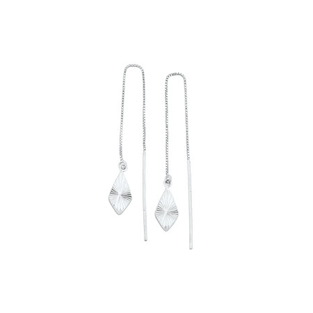Thread Earrings in Sterling Silver