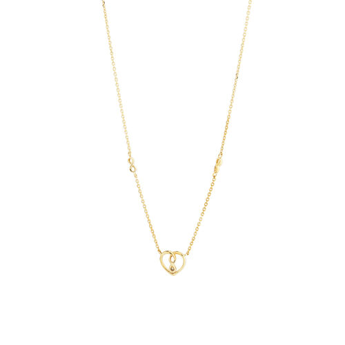 Mini Infinitas Pendant with Diamonds in 10ct Yellow Gold