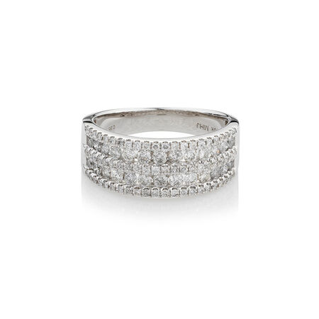 Online Exclusive - Ring with 1 Carat TW of Diamonds in 10ct White Gold