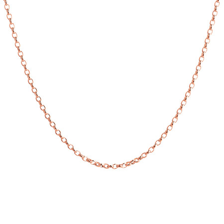 """60cm (24"""") Hollow Belcher Chain in 10ct Rose Gold"""