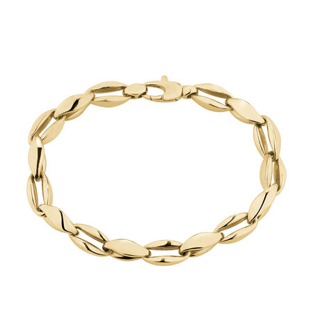 """19cm (7.5"""") Cable Bracelet in 10ct Yellow Gold"""