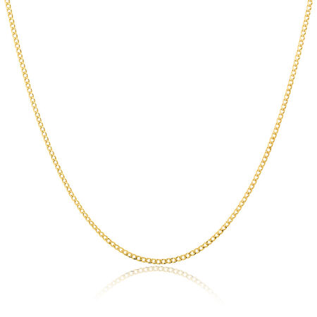 """80cm (32"""") Curb Chain in 10ct Yellow Gold"""