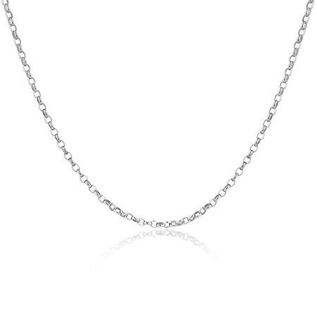 """70cm (28"""") Oval Belcher Chain in Sterling Silver"""