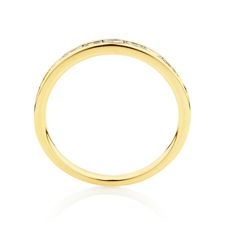 Evermore Wedding Band with 0.34 Carat TW of Diamonds in 14ct Yellow Gold